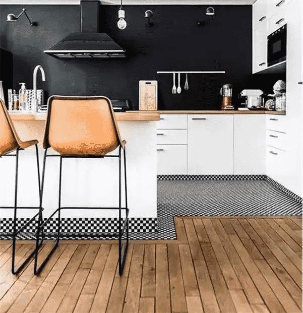 瓷砖遇上木地板