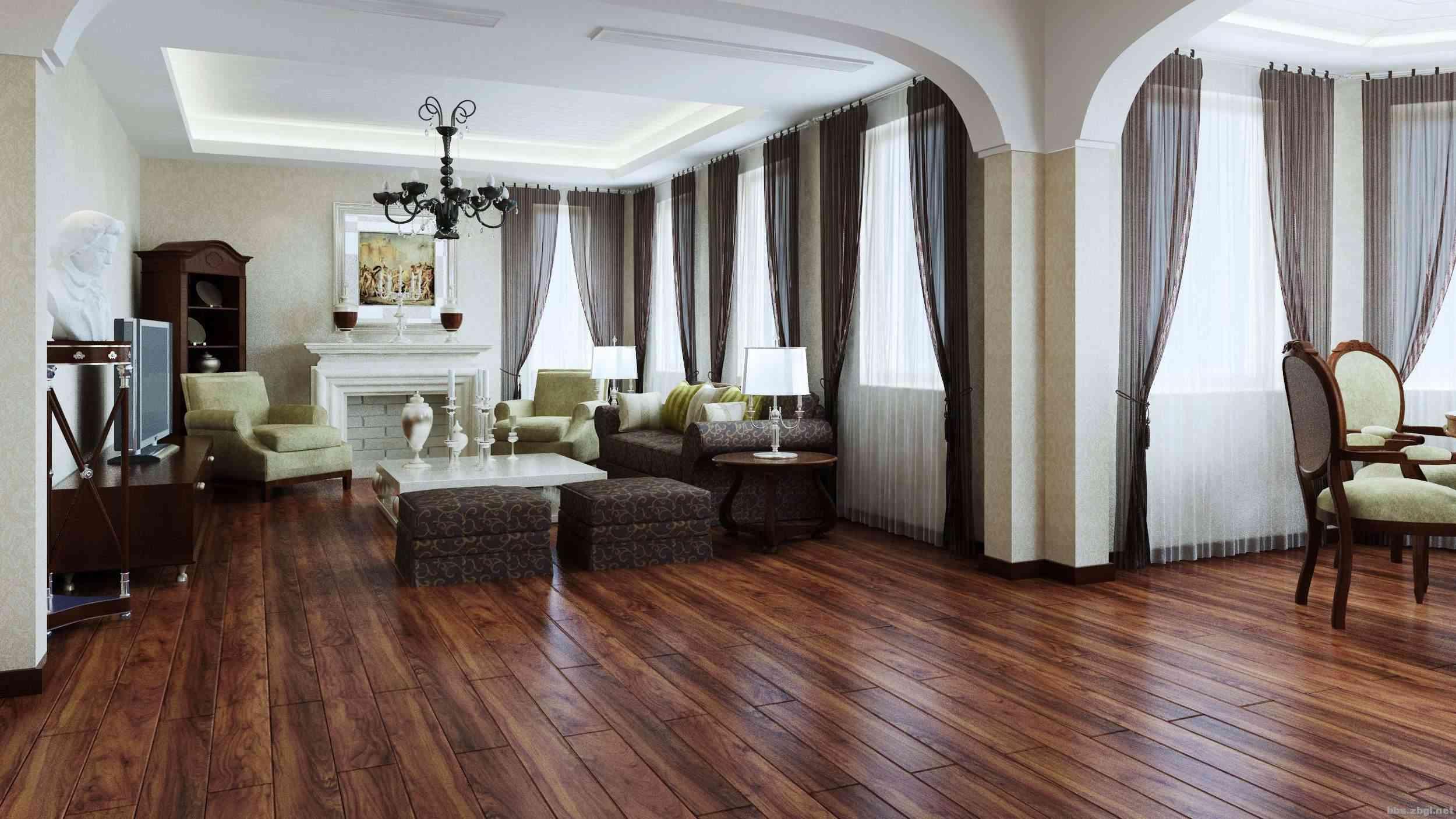 客厅在选择木地板时,主要考虑防水,变形,耐磨这些问题,毫无疑问强化
